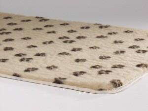 Vetbed Beige Met Pootjesprint voor honden