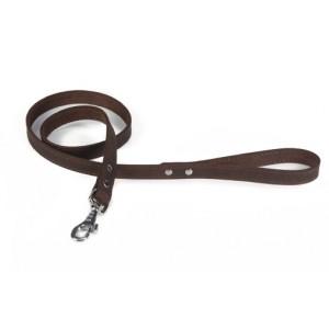 Braune Nieten Leder - Hundeleine (130cm)