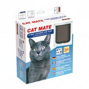 cat mate 235w 4 wegverschluss katzenklappe. Black Bedroom Furniture Sets. Home Design Ideas