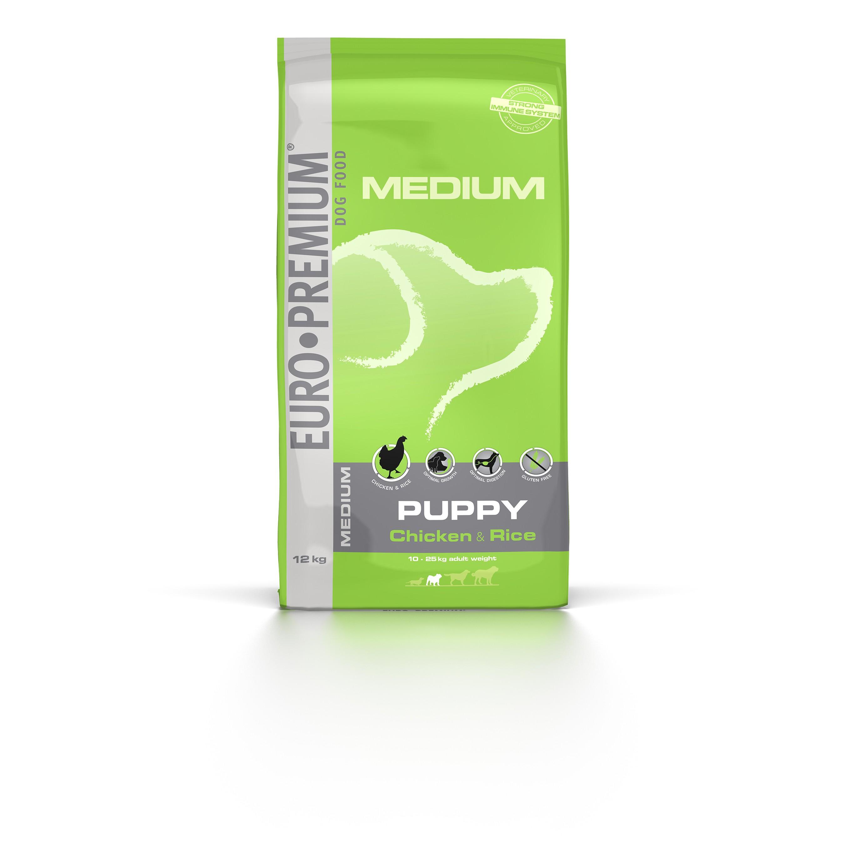 Euro Premium Medium Puppy Huhn & Reis Hundefutter