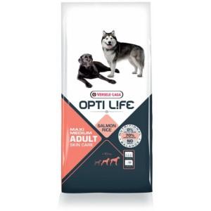 Opti Life Adult Skincare Medium/Maxi Hundefutter mit viel Lachs&Reis