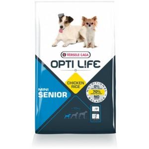 Opti Life Senior Mini Hundefutter mit viel Huhn&Reis