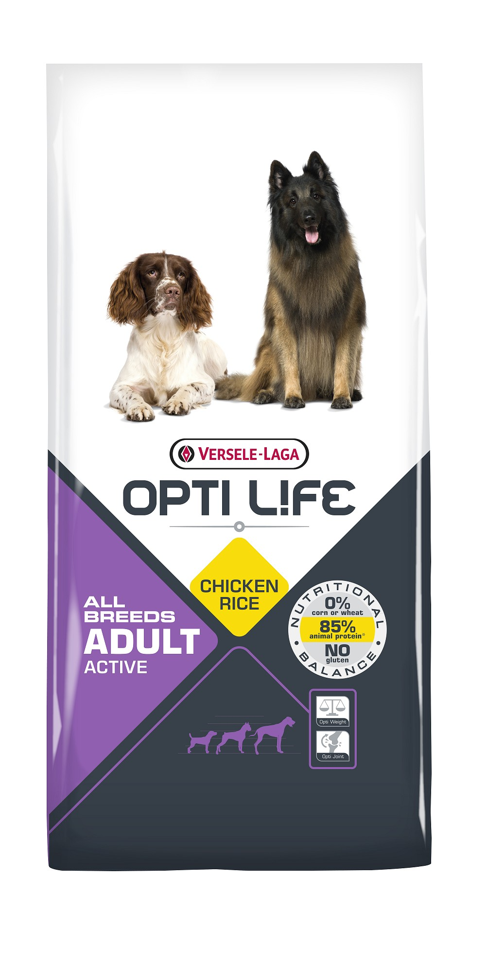 Opti Life Adult Active All Breeds mit viel Huhn & Reis Hundefutter