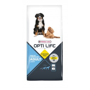Opti Life Adult Light Medium/Maxi Hundefutter mit viel Huhn & Reis