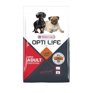 Opti Life Mini Adult Digestion Hundefutter mit viel Lamm&Reis