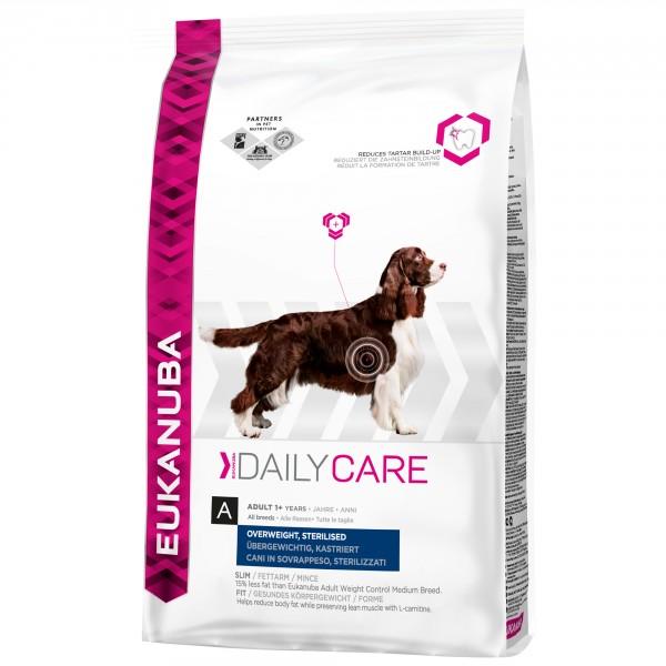eukanuba daily care kastrierte bergewichtige hunde hundefutter. Black Bedroom Furniture Sets. Home Design Ideas