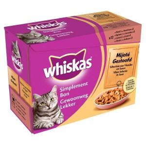 Whiskas Portionsbeutel Sanfte Küche Katzenfutter in Soße