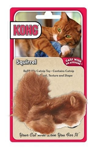 Kong Catnip Toy Squirrel