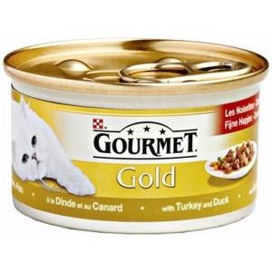 Gourmet Gold Feine Häppchen Katzenfutter in Soße, Pute und Ente