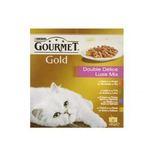 Gourmet Gold 8-Pack Luxe Mix Katzenfutter