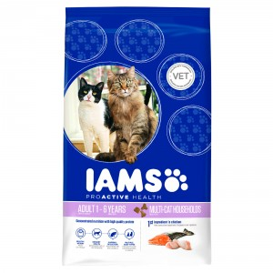 Iams Multi-Cat Lachs & Huhn Katzenfutter