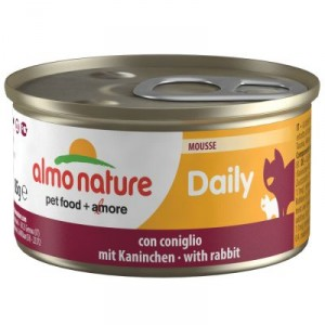 Almo Nature Daily Mousse mit Kaninchen 85 Gramm (157)