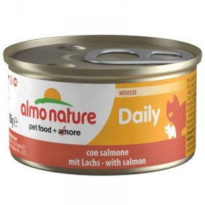Almo Nature Daily Mousse mit Lachs  85 Gramm  (158)