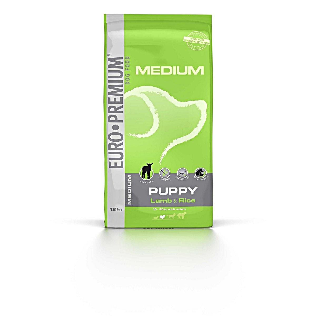 Euro Premium Medium Puppy Lamm & Reis Hundefutter
