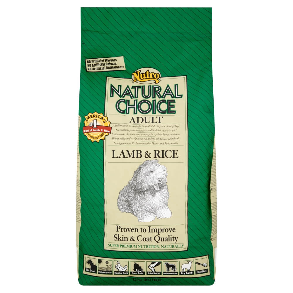 Nutro Choice Adult Lamm & Reis Hundefutter