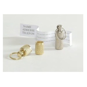 Silbernes Adressröhrchen