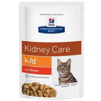 Hill's Prescription Diet K/D Frischebeutel mit Huhn Katzenfutter