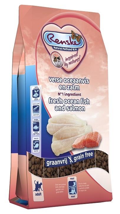 Renske Super Premium Adult Maxi 7+ kg Ozeanfisch und Lachs Katzenfutter
