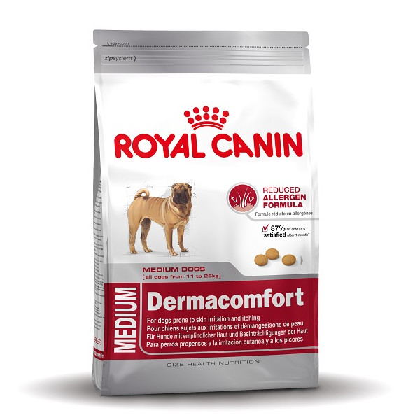 royal canin medium dermacomfort hundefutter g nstig. Black Bedroom Furniture Sets. Home Design Ideas