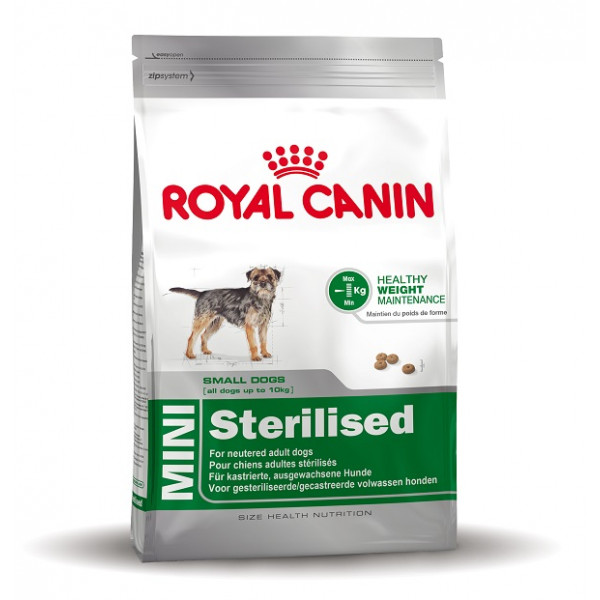 royal canin mini sterilised hundefutter online. Black Bedroom Furniture Sets. Home Design Ideas