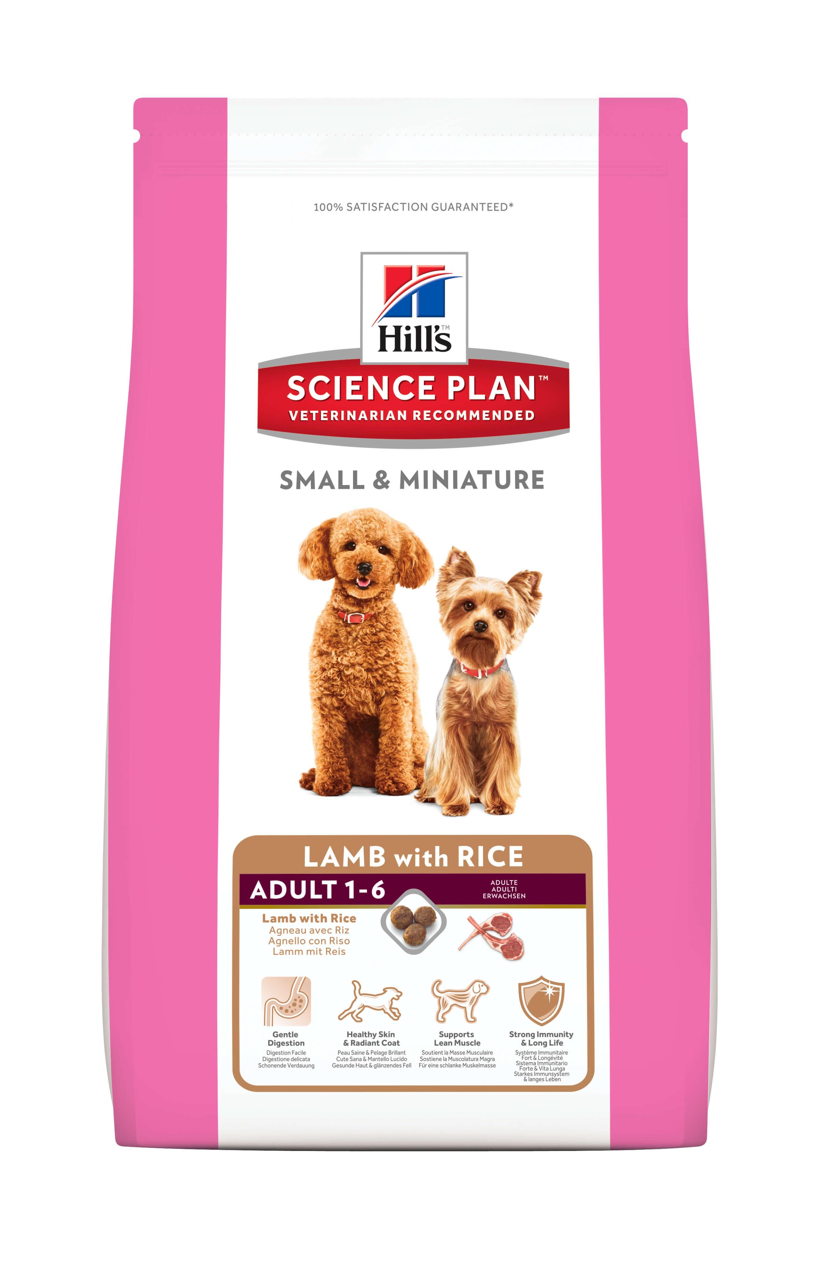 Hill's Adult Small & Miniature Lamm & Reis Hundefutter