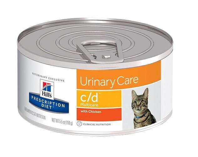Hills Prescription Diet C/D Huhn Katzenfutter in Dosen