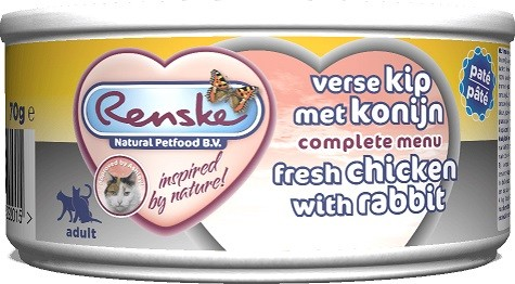 Renske frisches Hühnchen & Kaninchen Katzenfutter