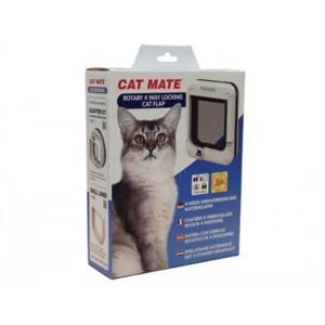 Cat Mate 358 4-Weg-Drehverschluss Katzenklappe Weiß