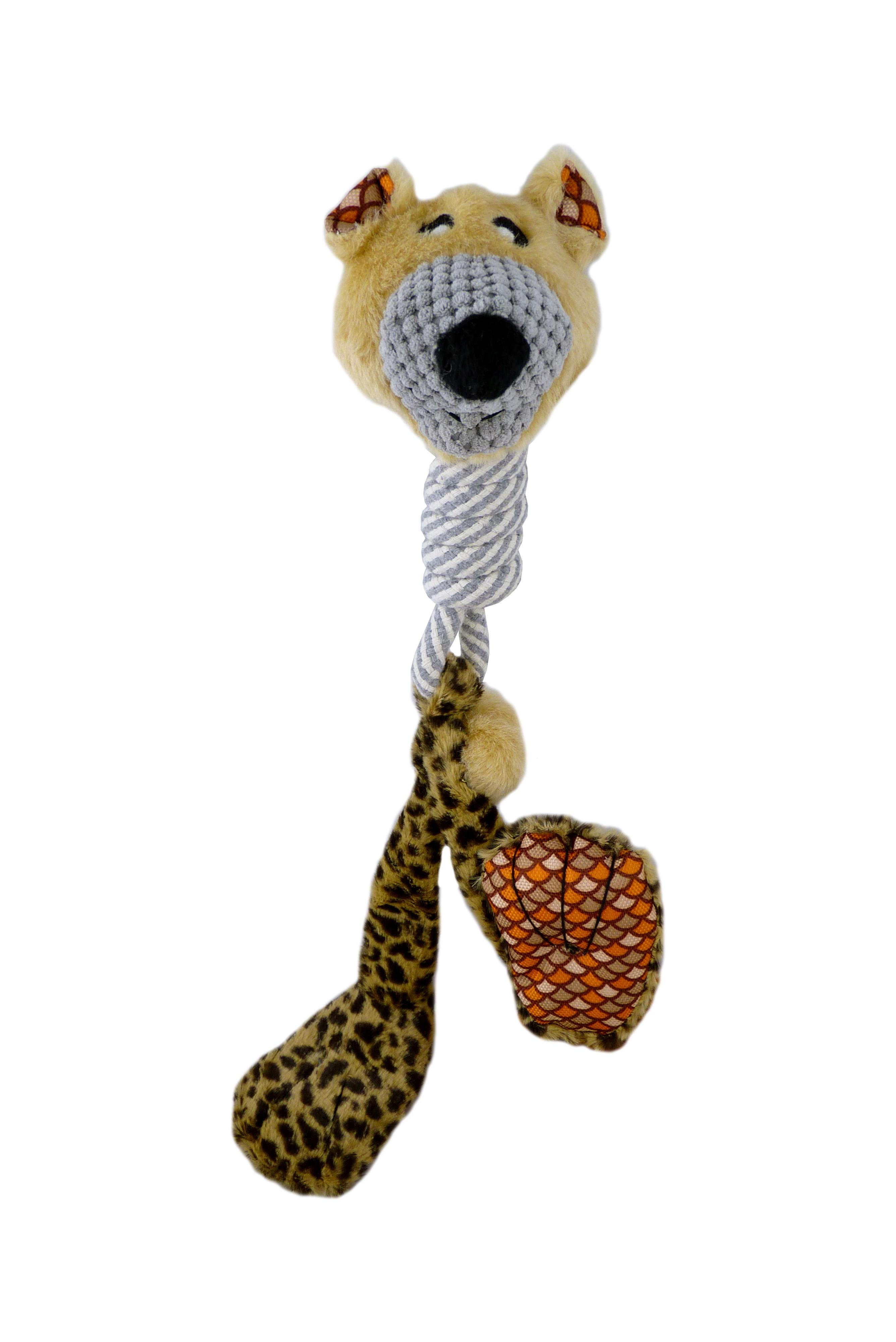 Plüsch große Füße Leopard Hundespielzeug