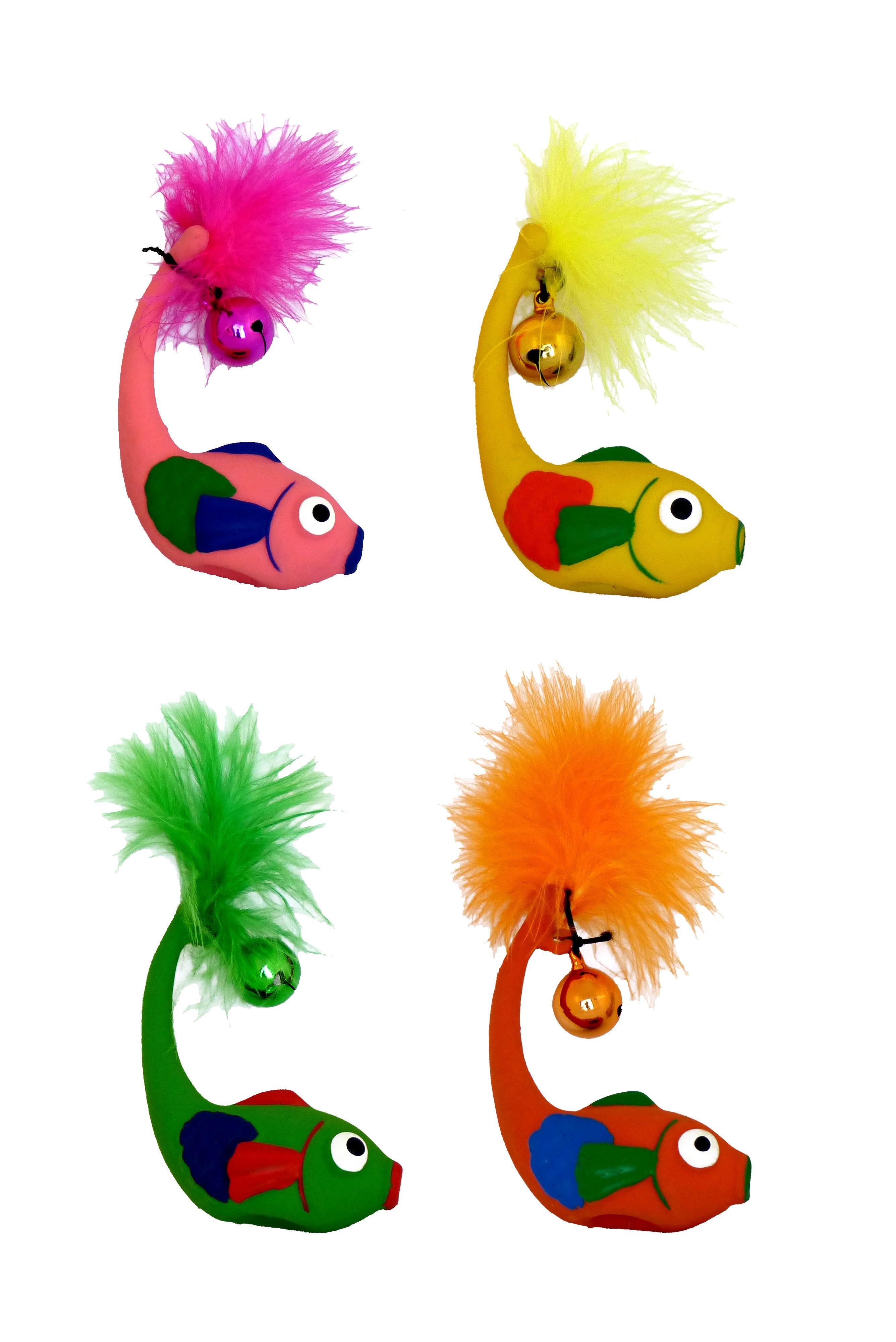 Latex Fisch met Klingel Katzenspielzeug