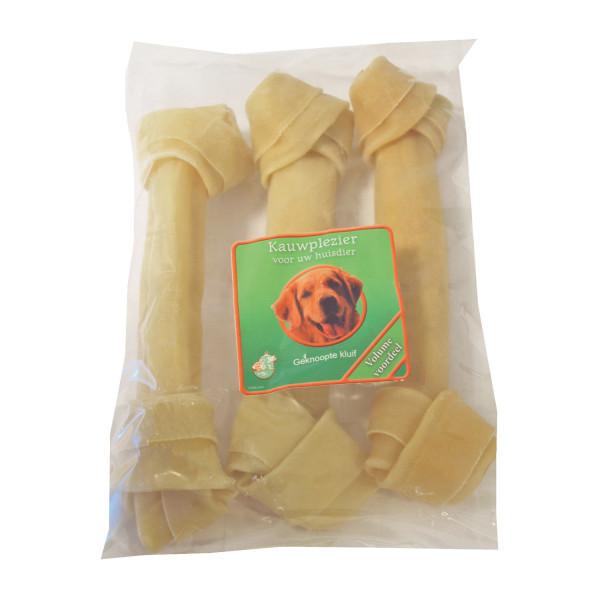 Büffelhautknochen Geknotet für den Hund (25 cm)