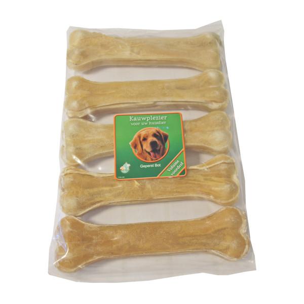Büffelhautknochen Gepresst für den Hund (16 cm)