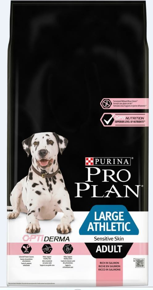 Pro Plan Optiderma Large Athletic Adult Sensitive Skin Hundefutter