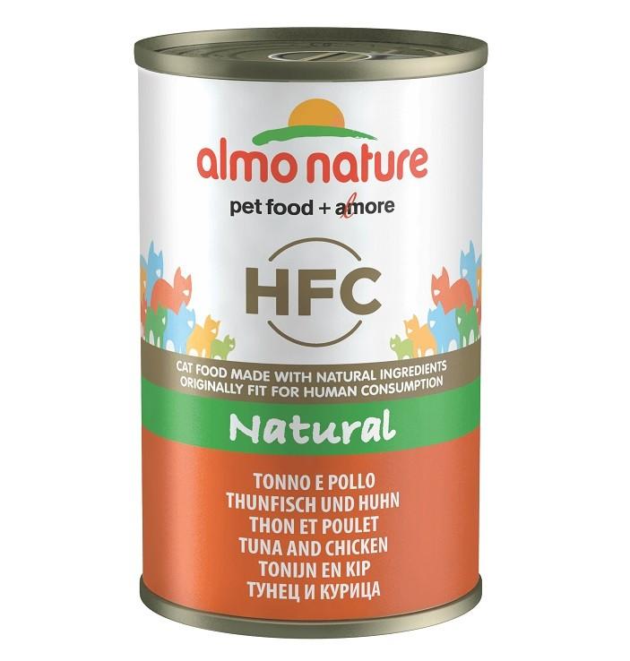 Almo Nature HFC Thunfisch und Huhn 140 Gramm Katzenfutter