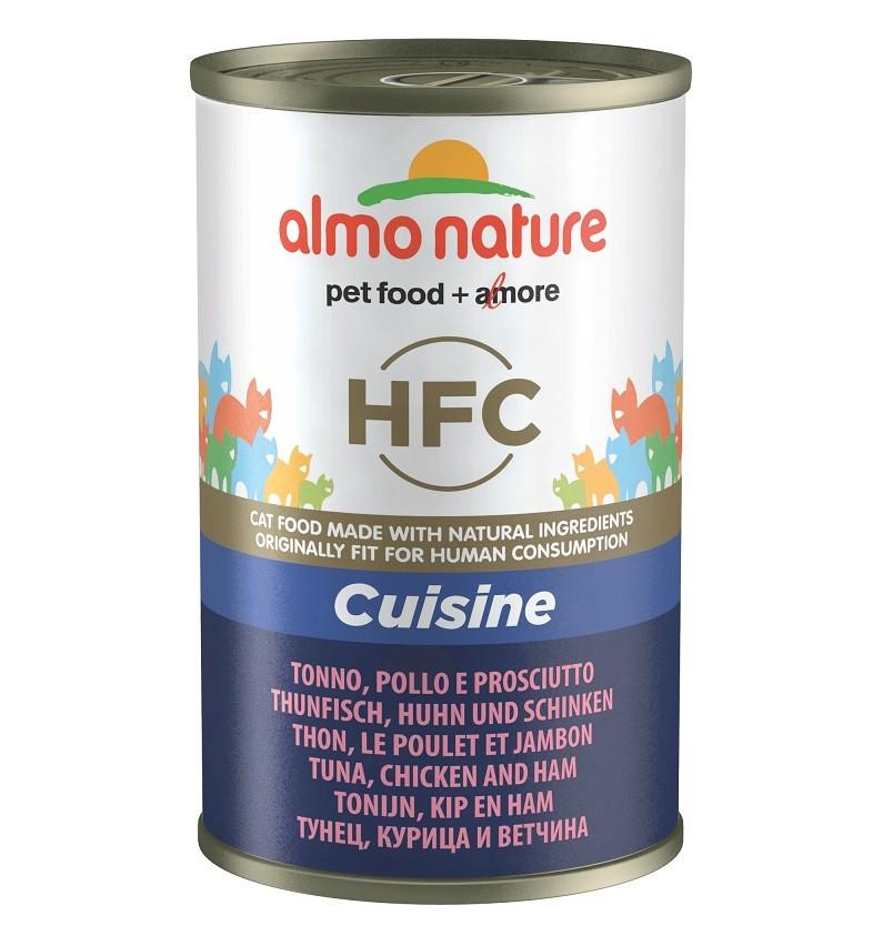 Almo Nature HFC Thunfisch, Huhn und Schinken 140 Gramm Katzenfutter