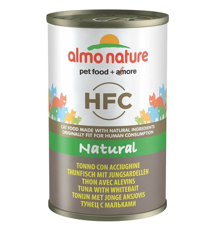 Almo Nature HFC Thunfisch mit Jungsardellen140 Gramm Katzenfutter