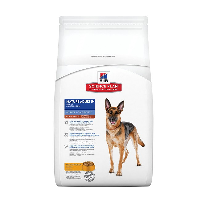 Hill's Mature Adult 5+ Active Longevity Large Breed Huhn Hundefutter