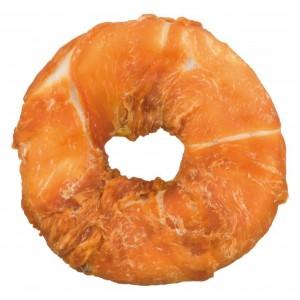 Büffelhaut Donut mit Huhn für Hunde