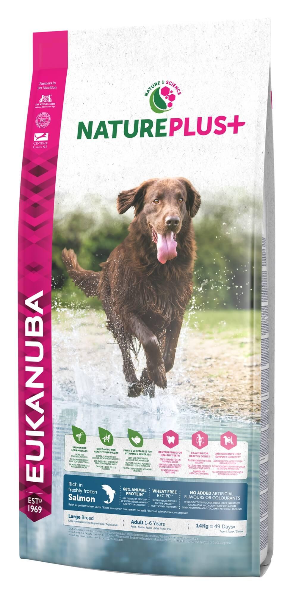 Eukanuba NaturePlus+ Adult Large Breed Lachs Hundefutter