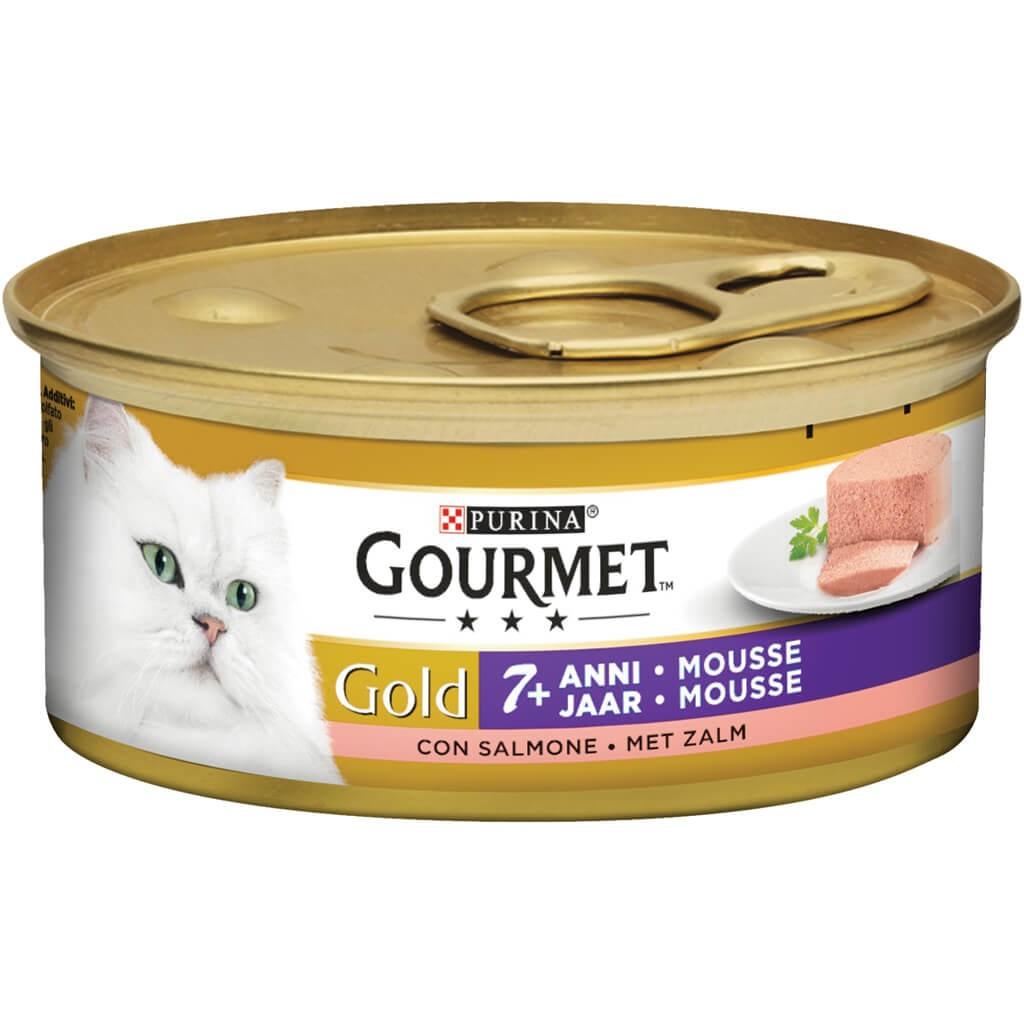 Gourmet Gold Mousse mit Lachs +7