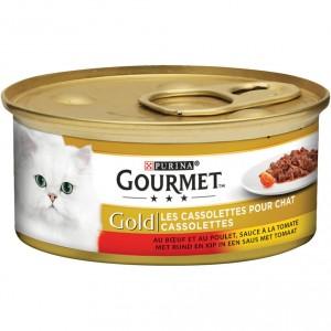 Gourmet Gold Les Cassolettes Duo aus Fleisch in Tomatensoße