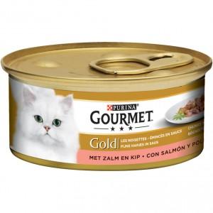 Gourmet Gold Brokjes in saus Zalm en Kip