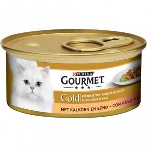 Gourmet Gold Brokjes in saus Kalkoen en Eend