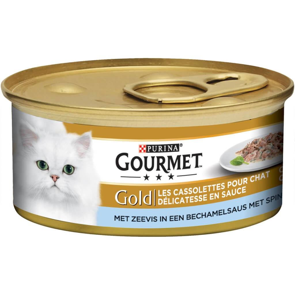 Gourmet Gold Cassolettes Seefisch & Spinat