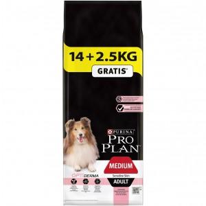 Pro Plan Adult Medium Sensitive Skin Salmon Optiderma Hundefutter