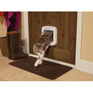 Staywell Pet Porte Microchip Kattenluik wit