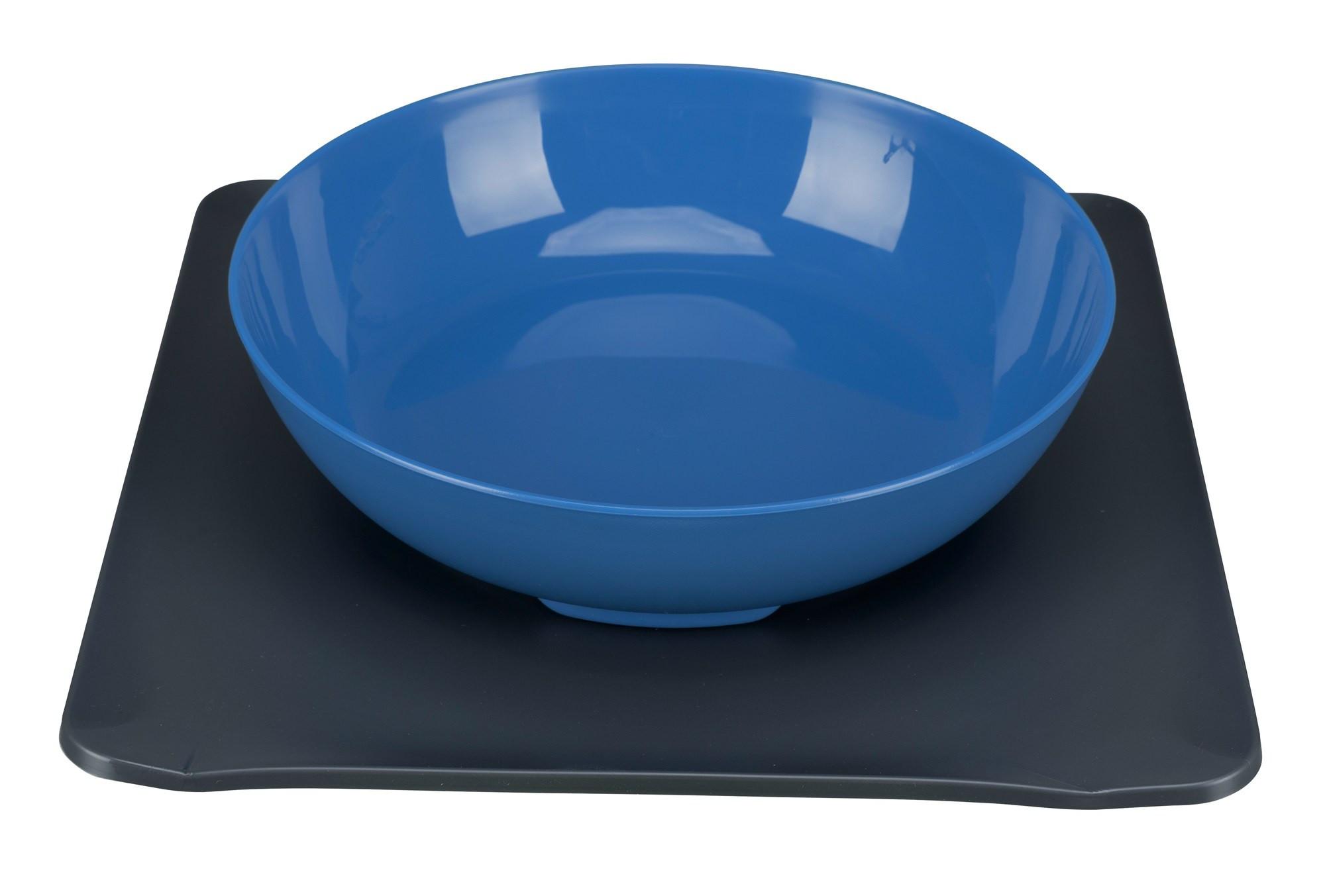 Yummynator antislip voer- /drinkbak blauw 850ml