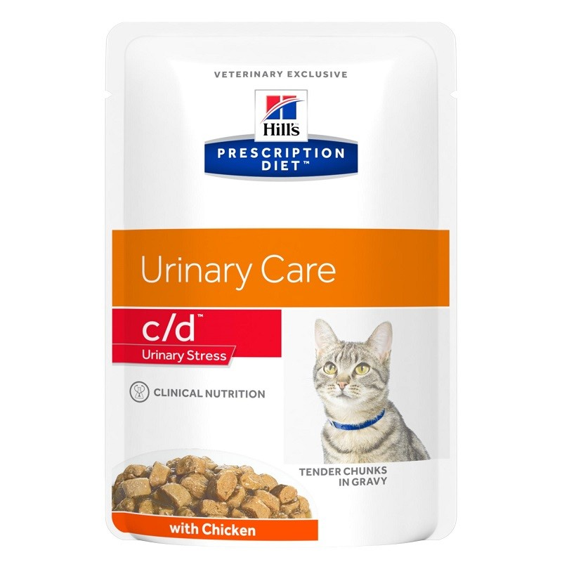 Hill's Prescription Diet C/D Urinary Stress Huhn Katzen-Nassfutter