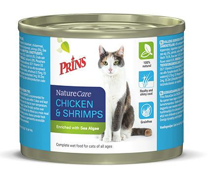 Prins NatureCare Kip & Garnalen kattenvoer