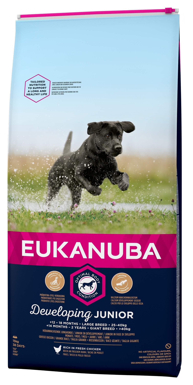 Eukanuba Developing Junior Large Breed kip hondenvoer